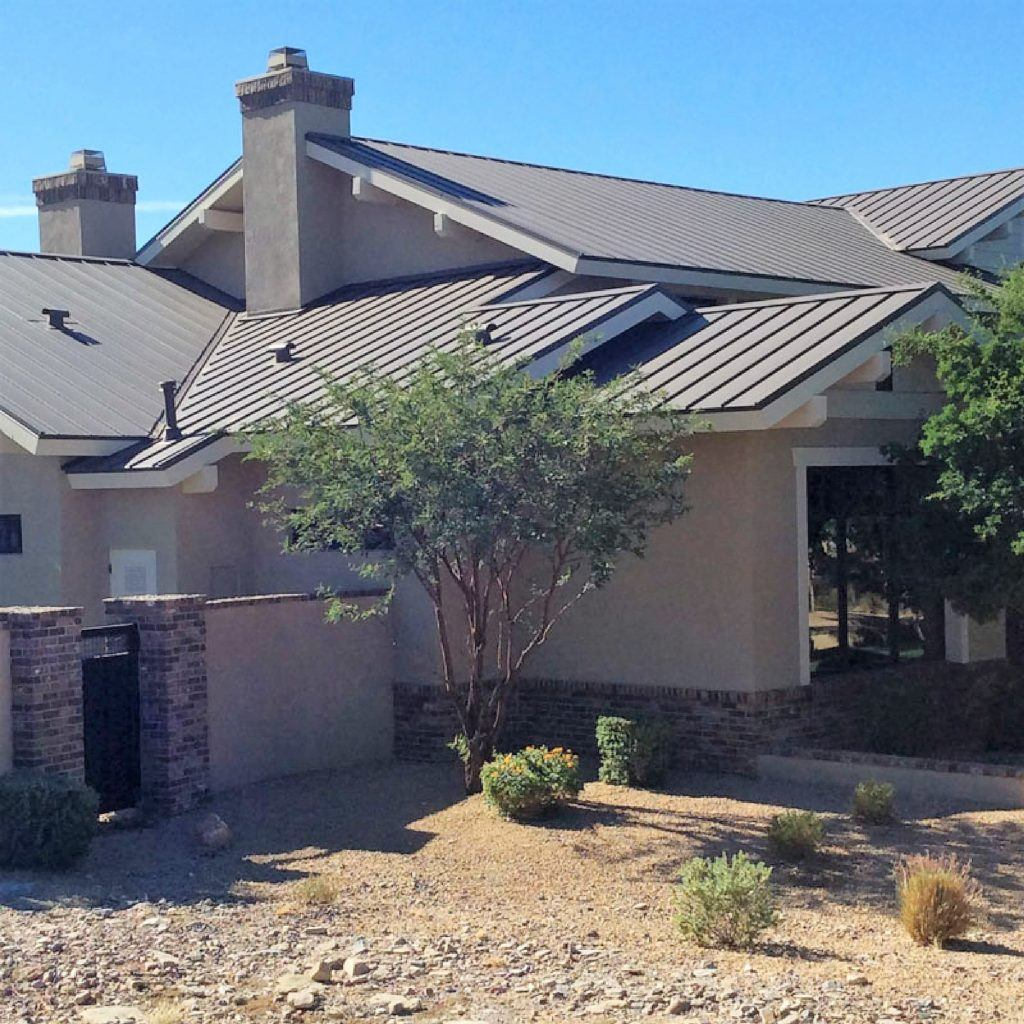 home with metal roofing phoenix