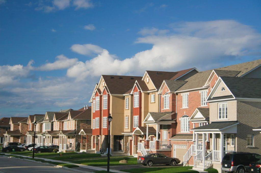 street of rental units