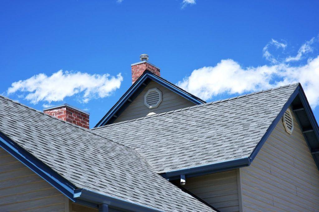 home with asphalt shingle roof