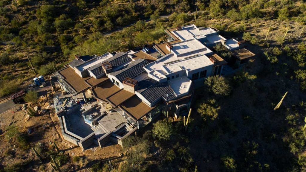 mansion with 3 different kinds of roofs phoenix