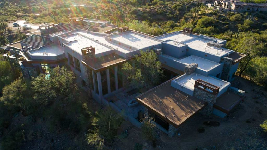 flat roof on mansion phoenix