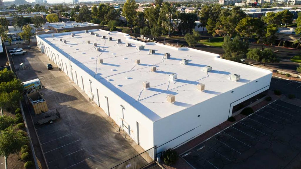 spray foam white commercial roofing
