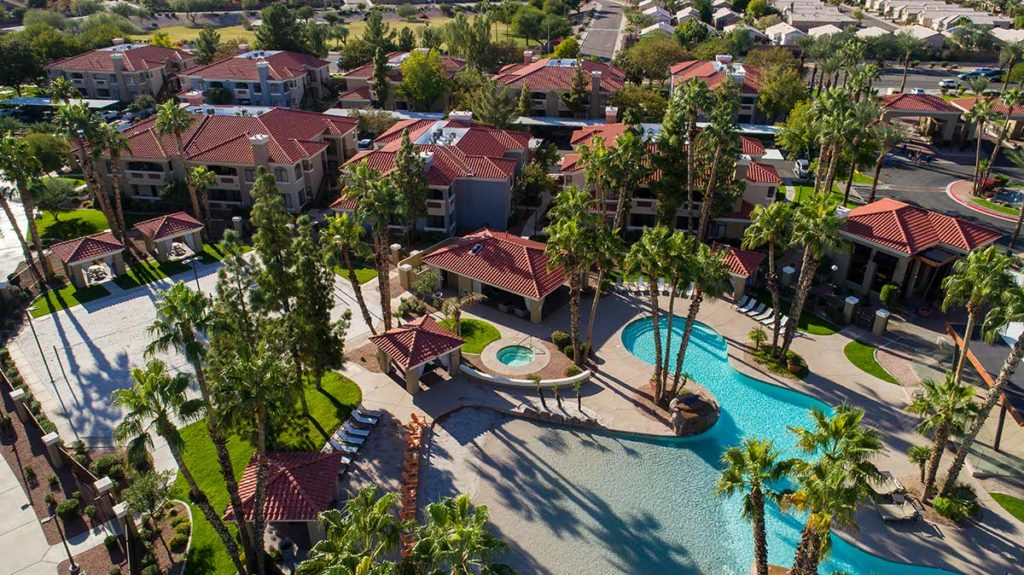 phoenix resort with red concrete tile roofing