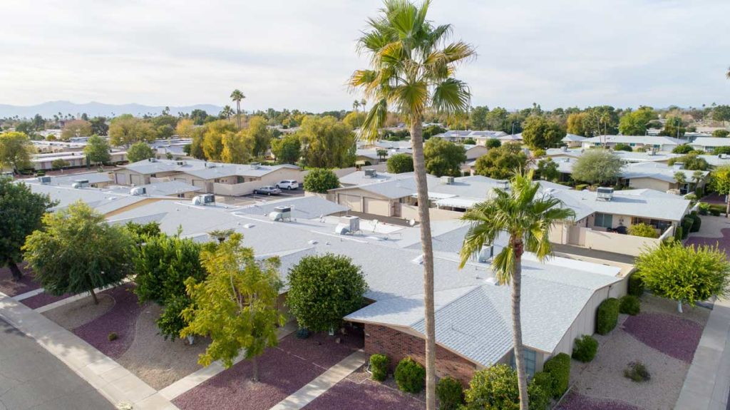 roofing on housing complex