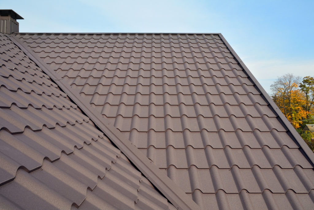 well-maintained metal residential roofing