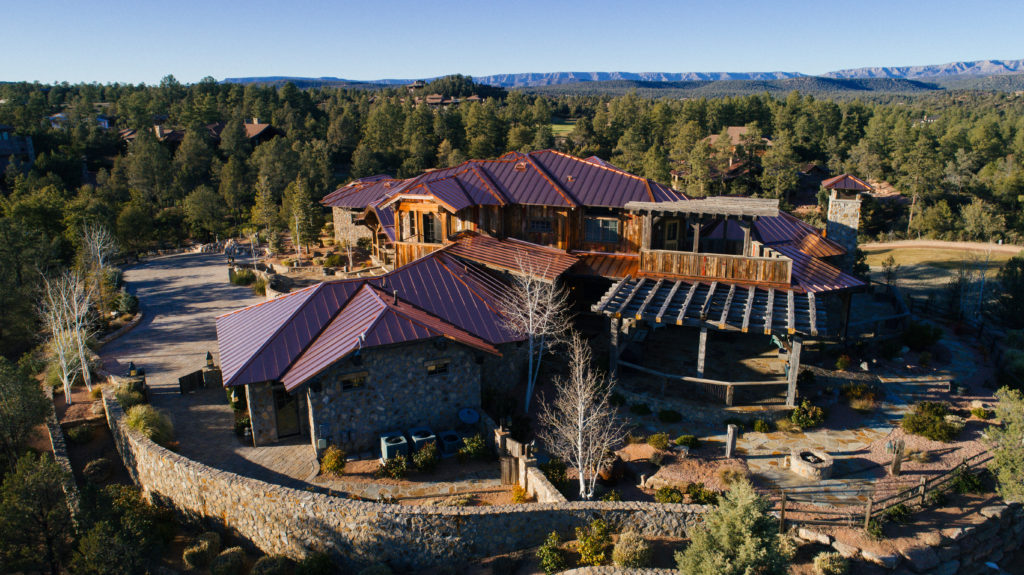 metal roofing on ranch house in arizona mountains