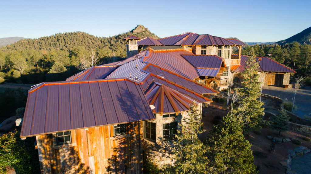 metal roofing on ranch house in arizona