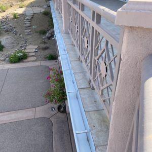 balcony gutter installation