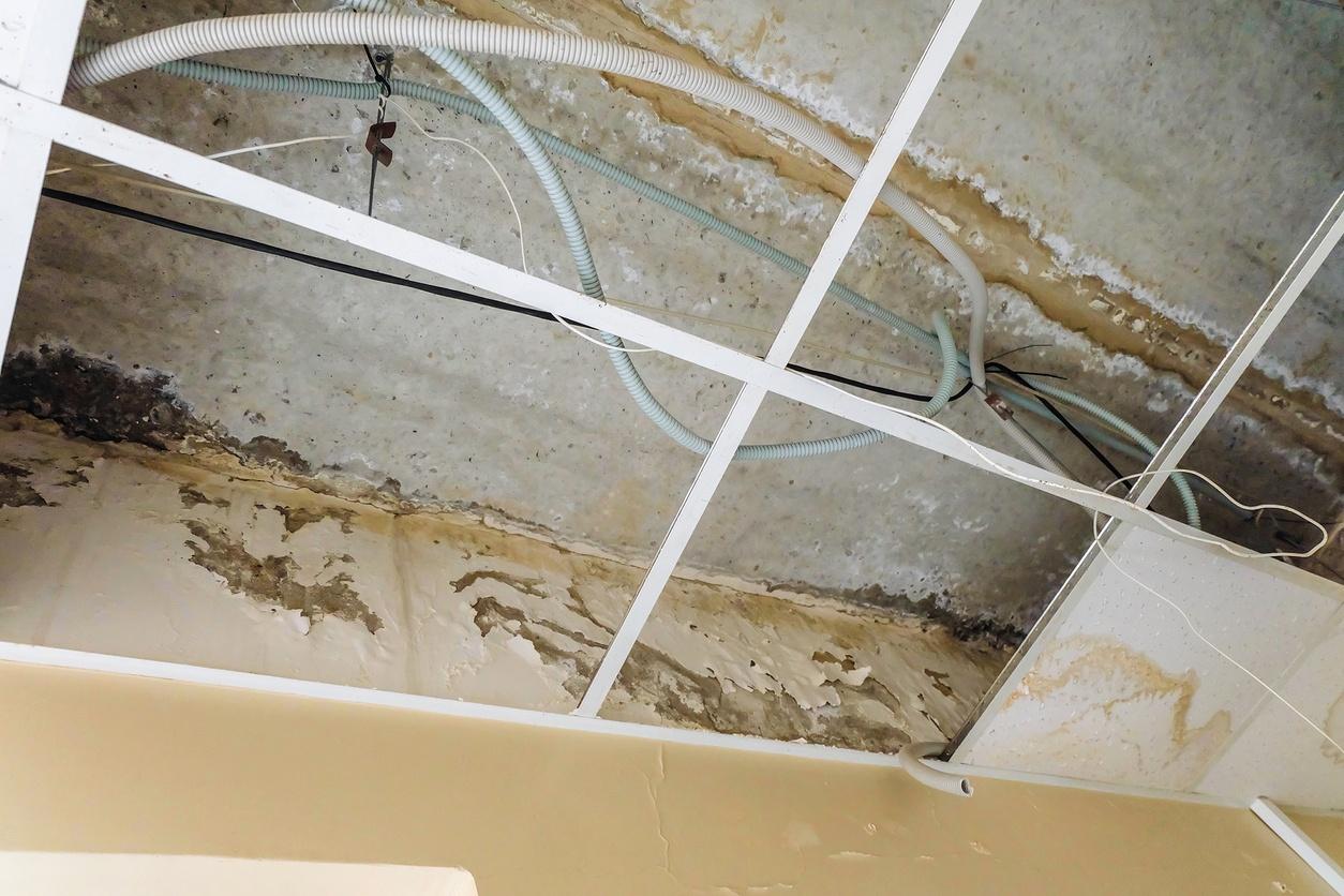 Commercial roof water leak damage in Phoenix