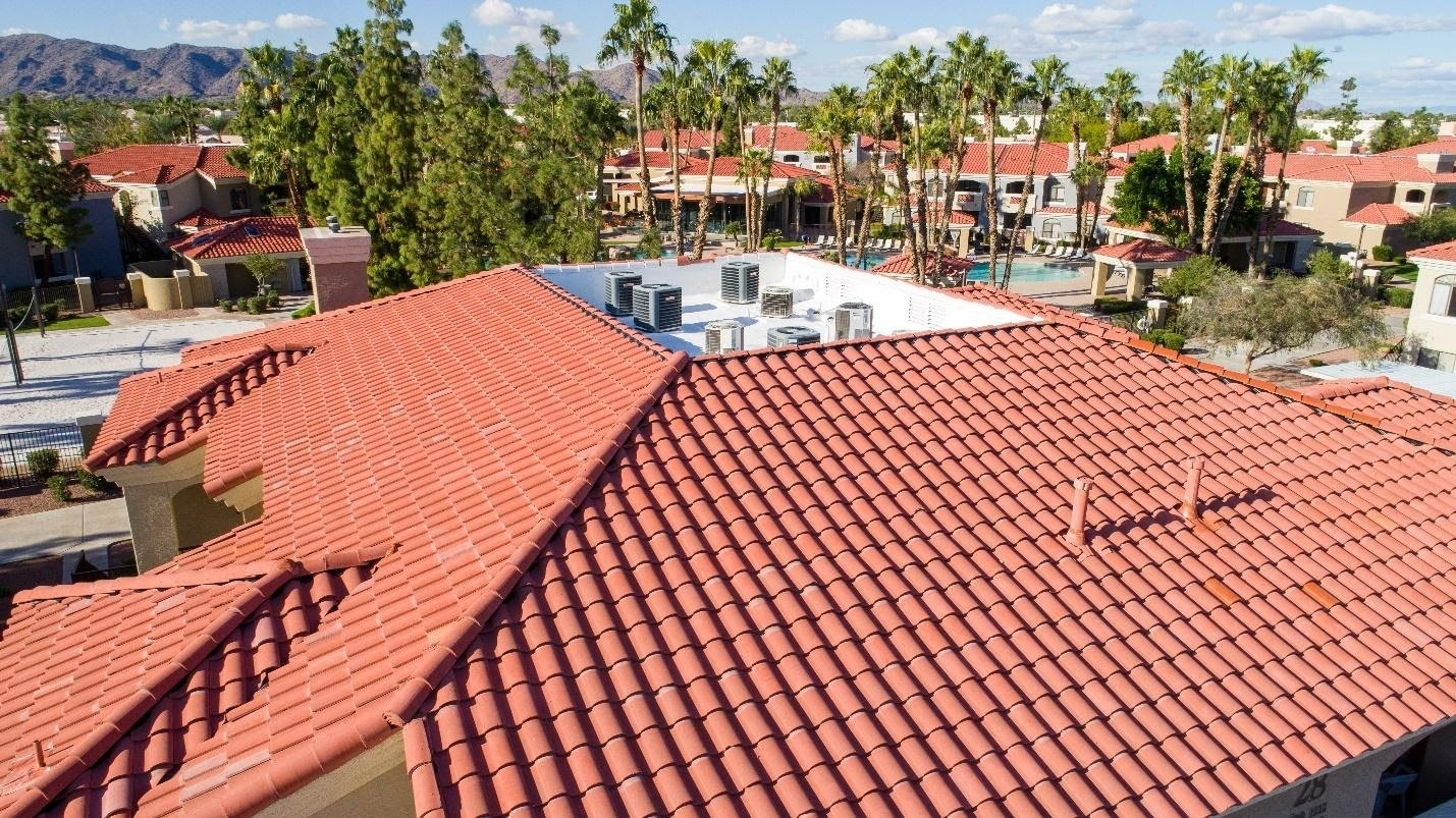 Tile roof in a sunny environment