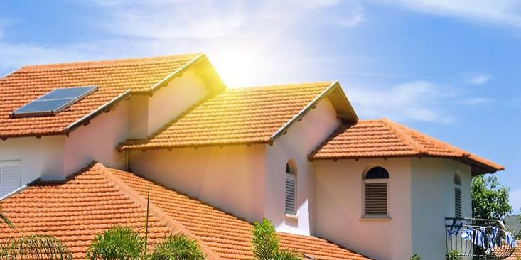 spanish style concrete tile roof on home in phoenix