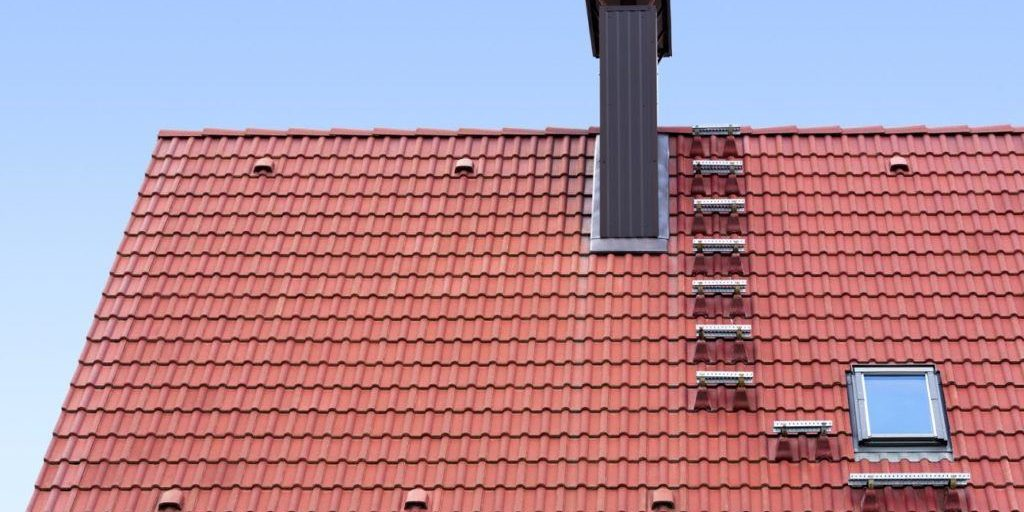 tile roofing on large building
